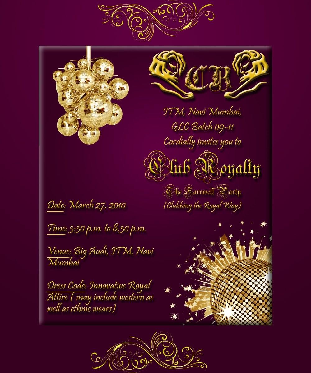 Farewell Party Invitation Card