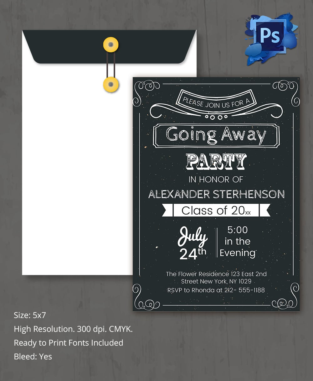 Going Away Party Invitation Templates Mickey Mouse Invitations - Party invitation template: going away party invitation templates