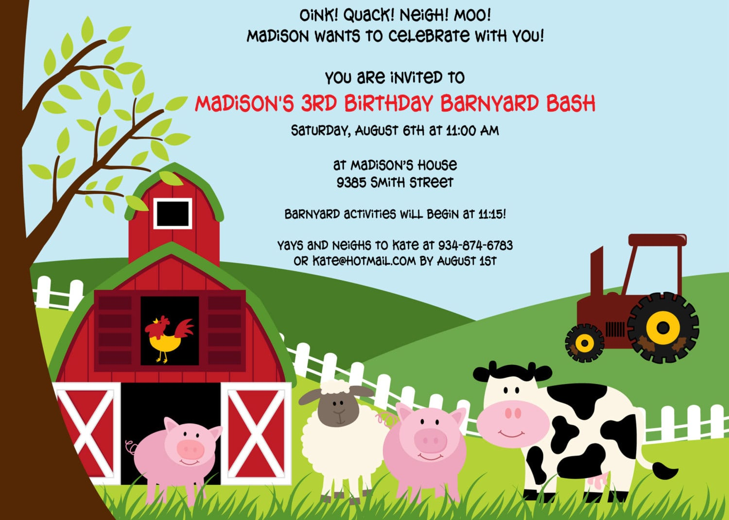 Farm Theme Party Invitations   Ukrobstep Com