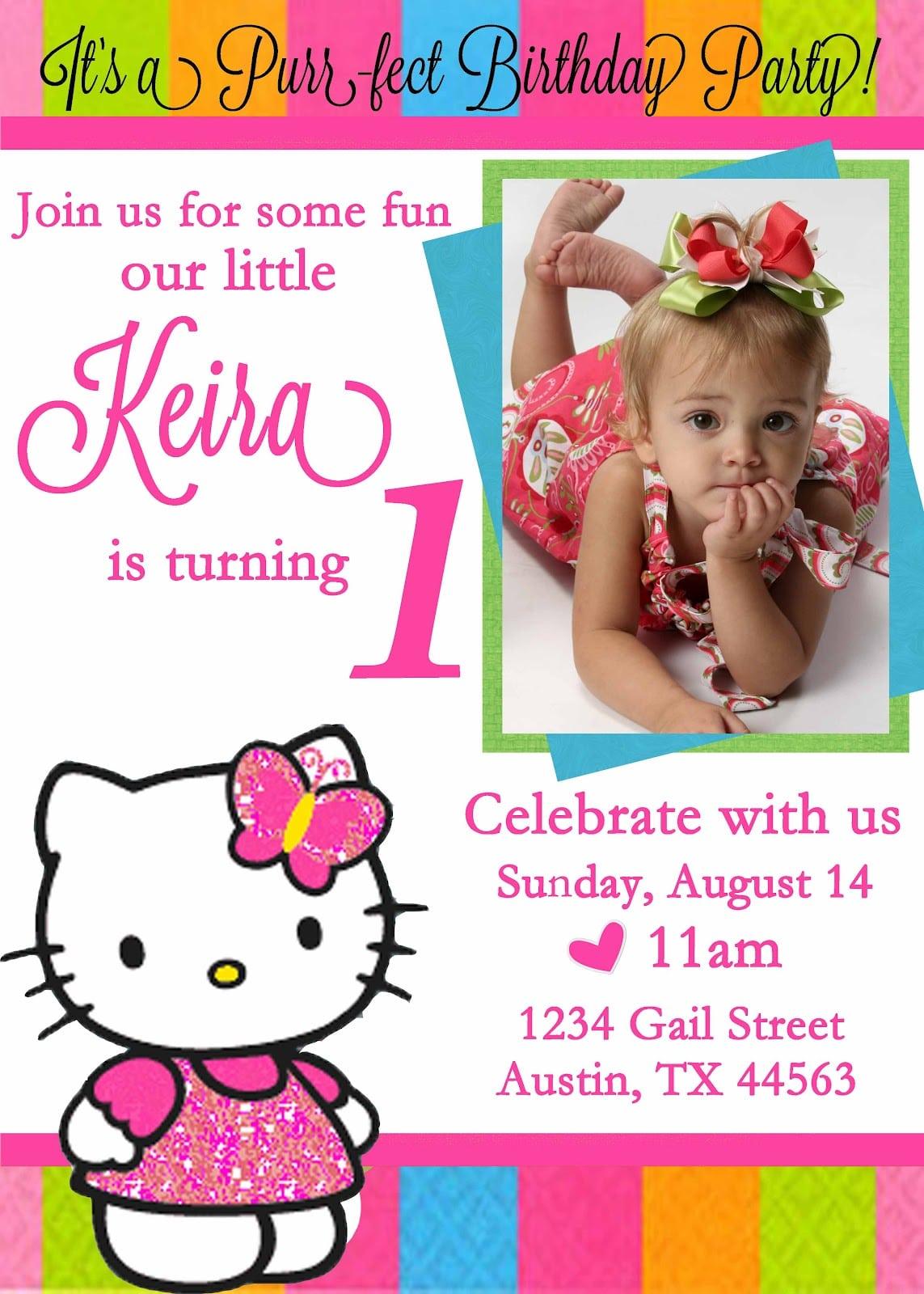 Fearsome Hello Kitty Birthday Party Invitations