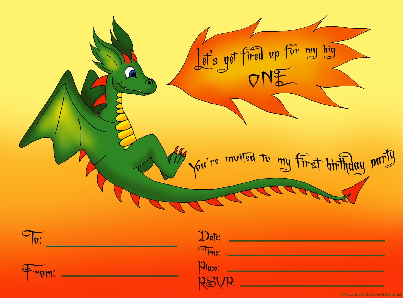 First Birthday Party Invitations  Free And Ready To Print