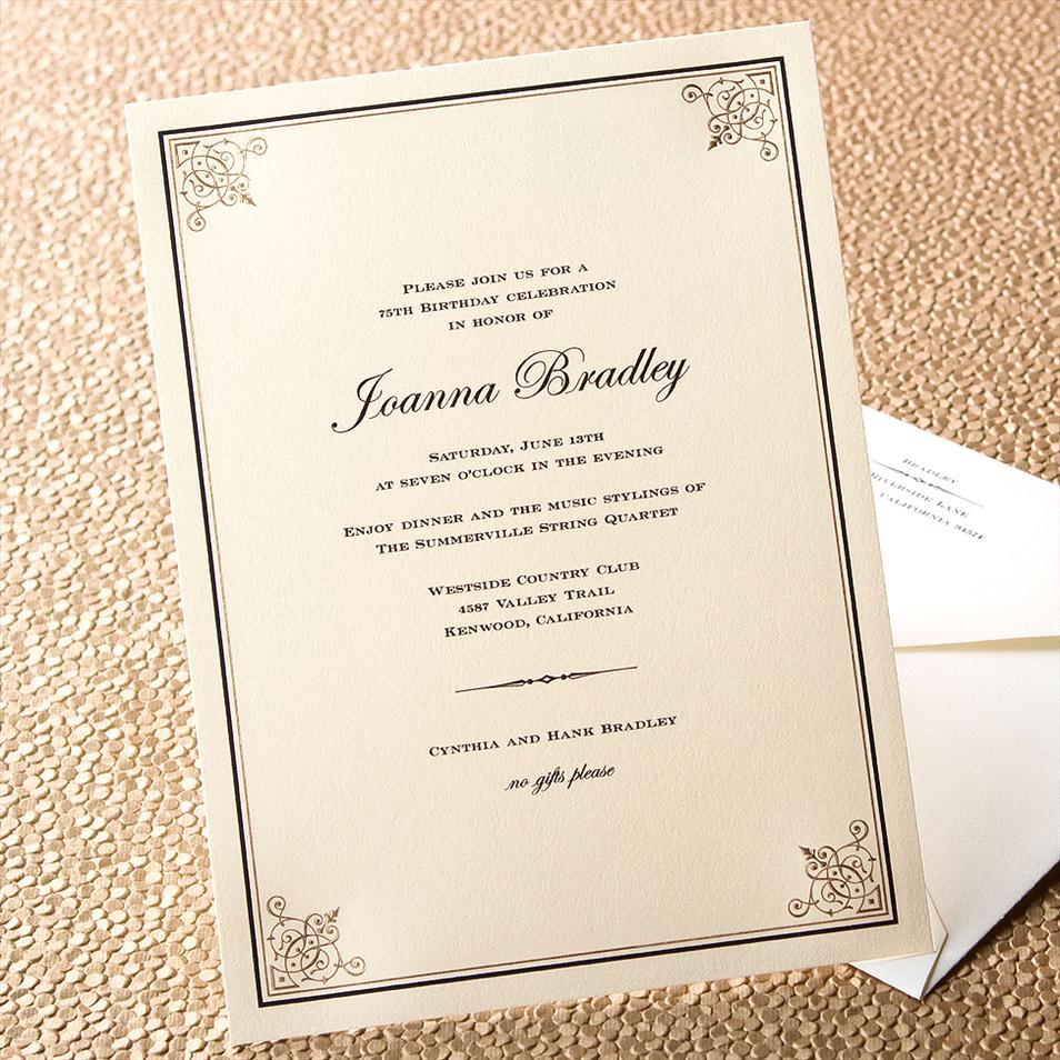 Formal Invitation Letter For Dinner Party  Invitations Formal