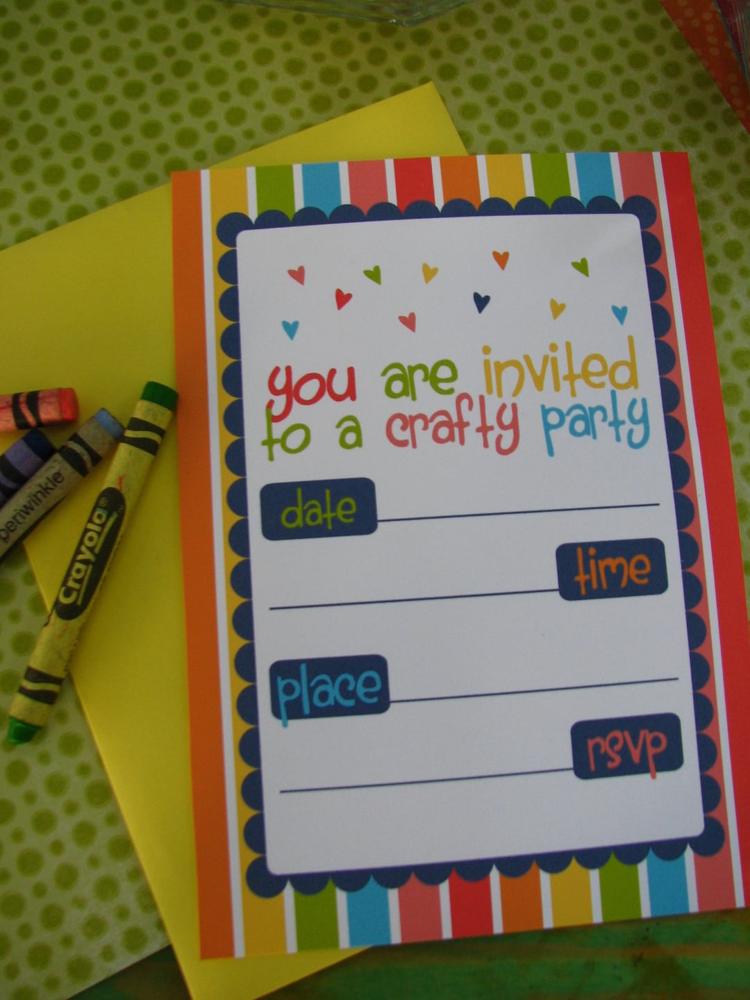 Free Arts & Crafts Party Printables From Sugarsticks Parties