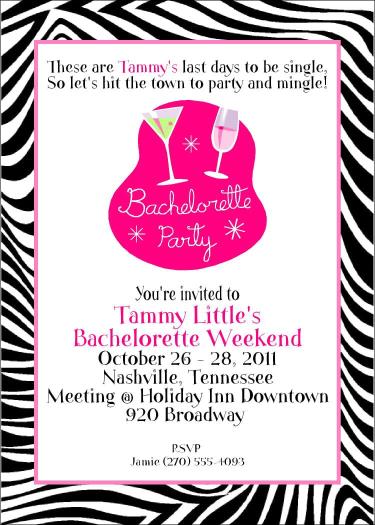 Free Bachelorette Party Invitations – Gangcraft Net