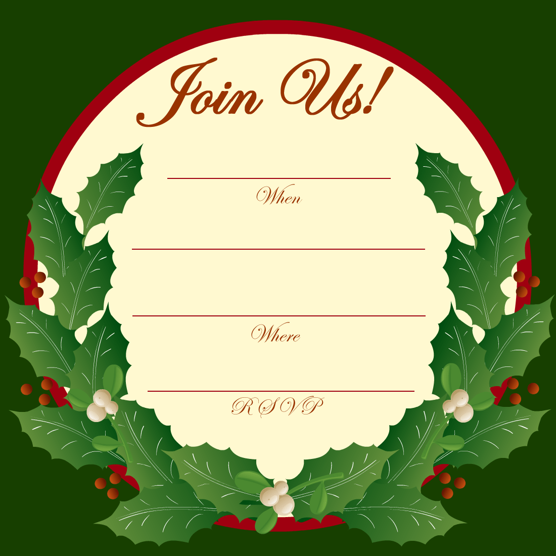 Free Christmas Party Invitation Clipart