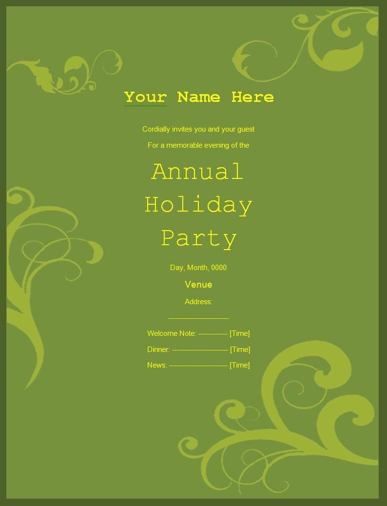 Free Downloadable Party Invitations Templates  Printable Party