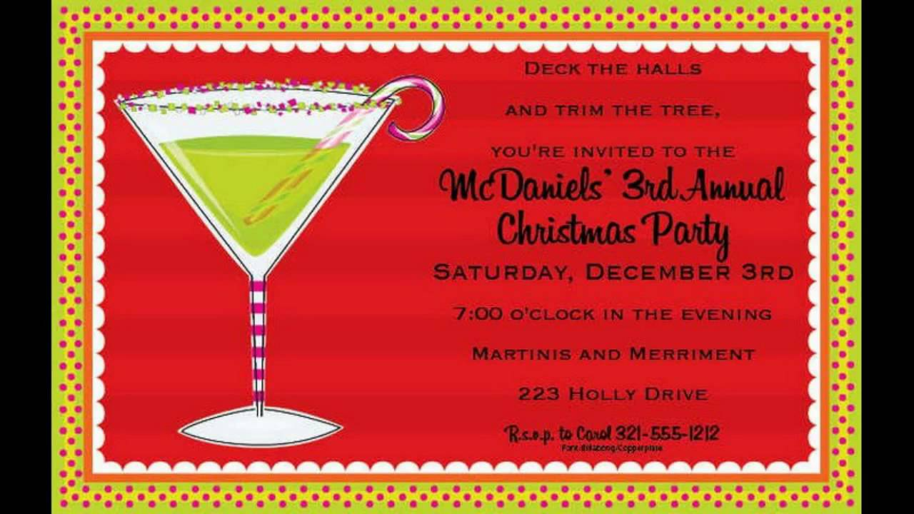 Great Electronic Christmas Party Invitations Ideas - Invitation Card ...