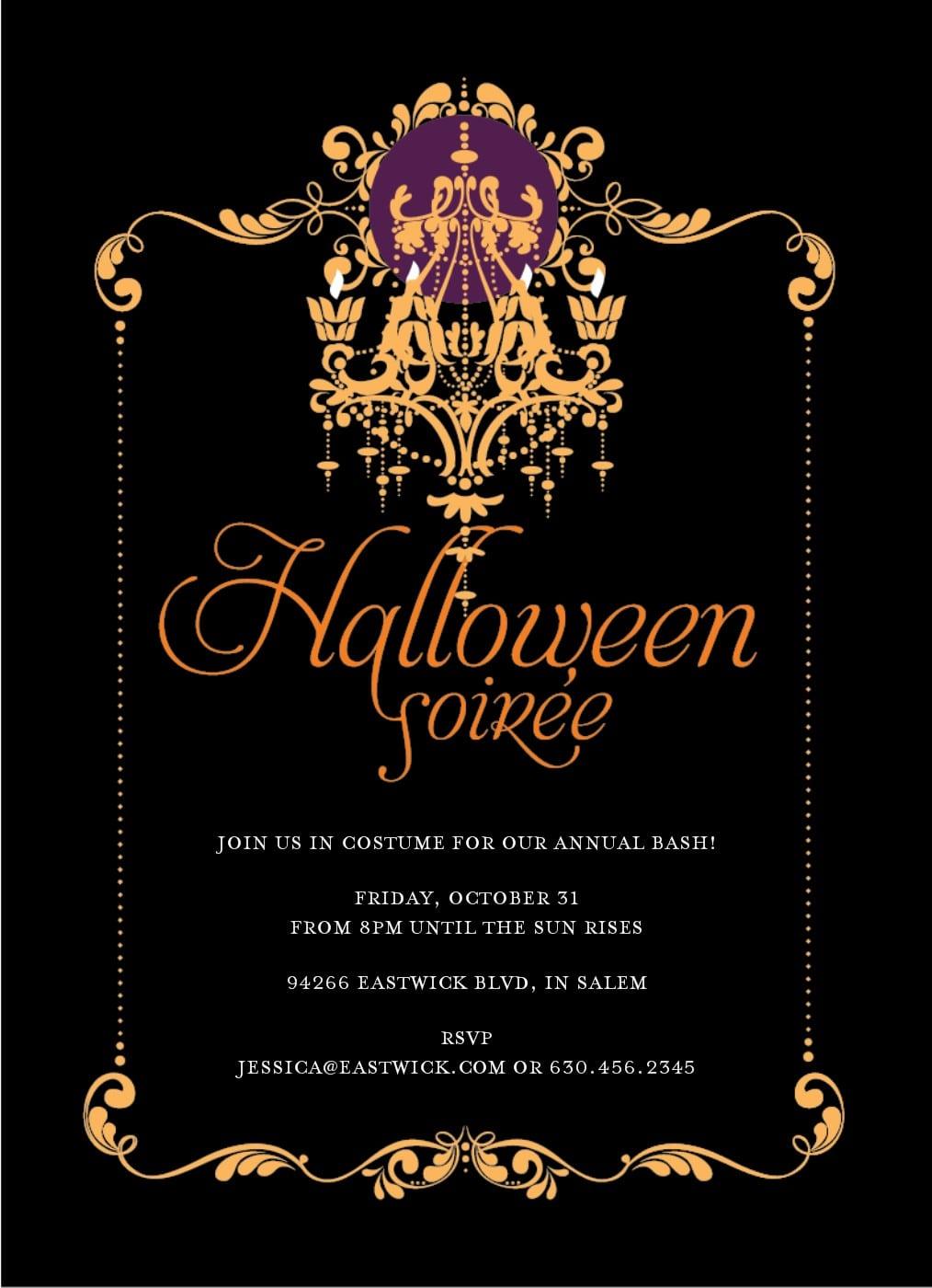 Free Halloween Invitations & Party Invites Templates Printable