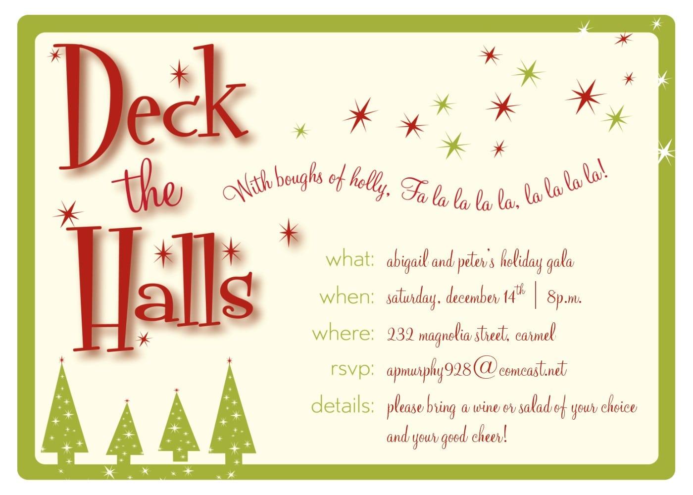 Free Holiday Party Invitation Clipart