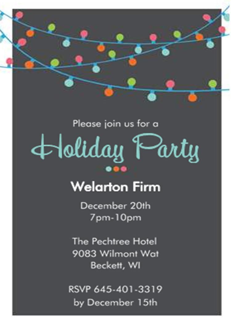 Free Holiday Party Invite Clipart