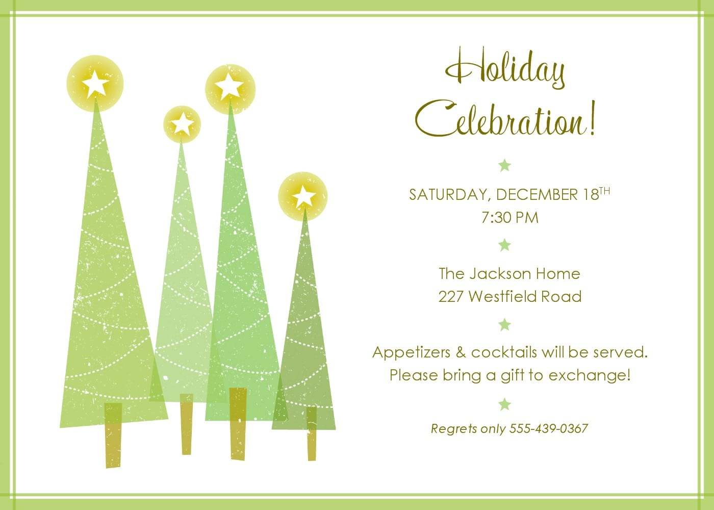 Free Holiday Invitation Templates Printable special new year greetings