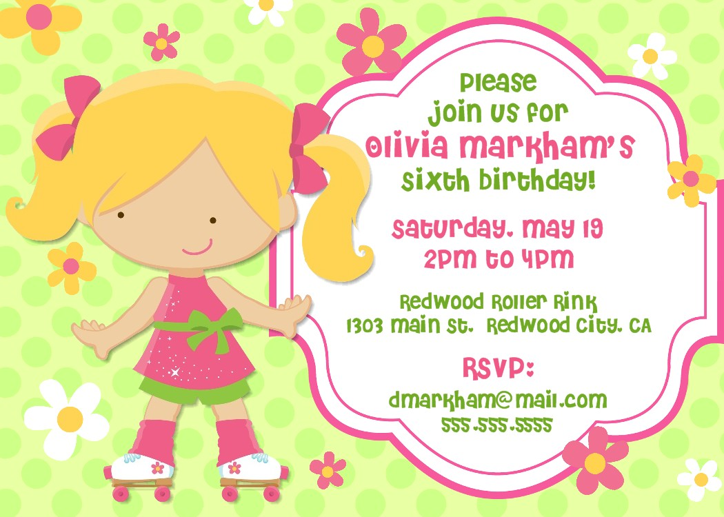 Free Kids Party Invitations To Print