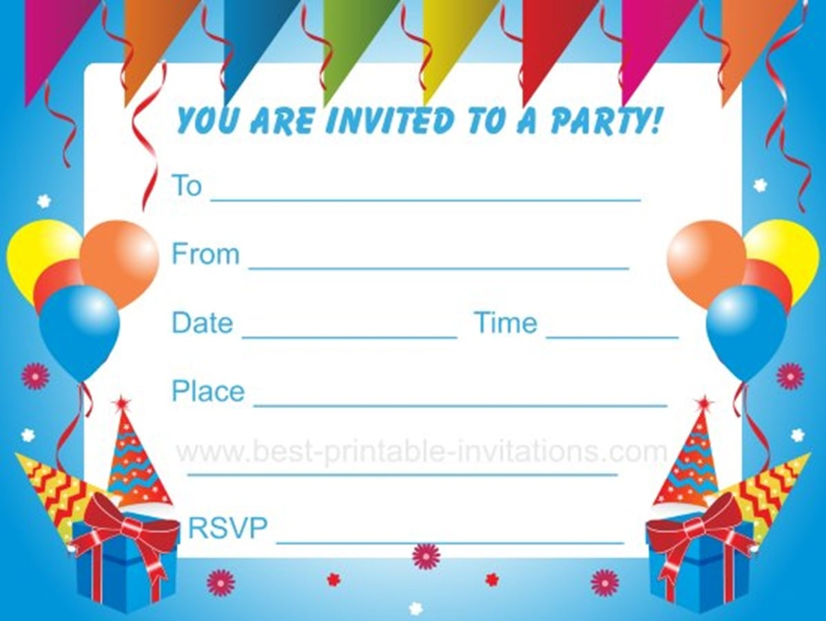 Doc Free Birthday Party Invitations to Print Free Printable – Free Invitation Ecards for Birthday Party