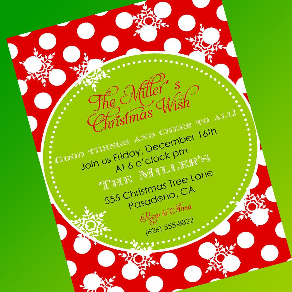 Free Printable Caroling Party Invitation