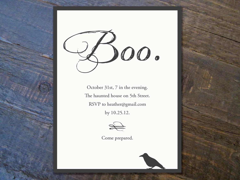 Free Printable Halloween Party Invitation Templates