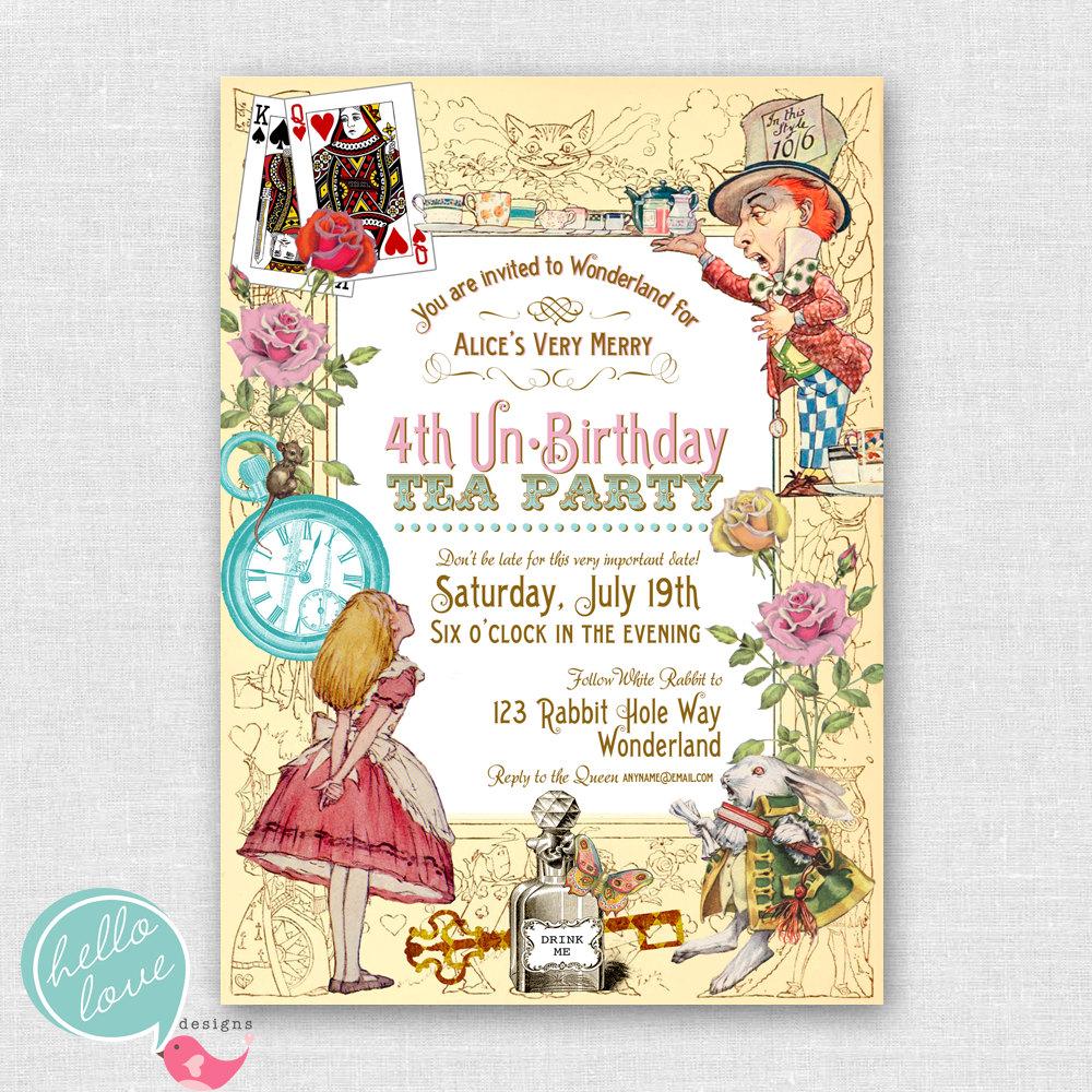 Free Printable Invitations Mad Hatter
