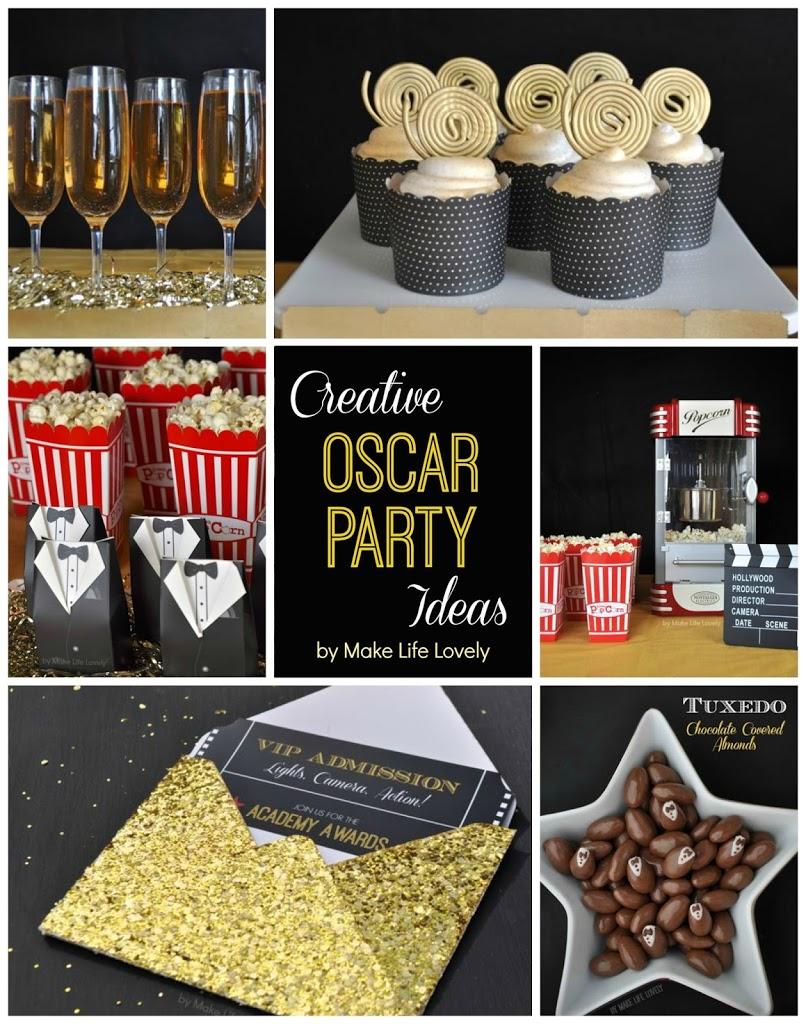 Free Printable Oscar Party Invitations + Diy Gold Glitter