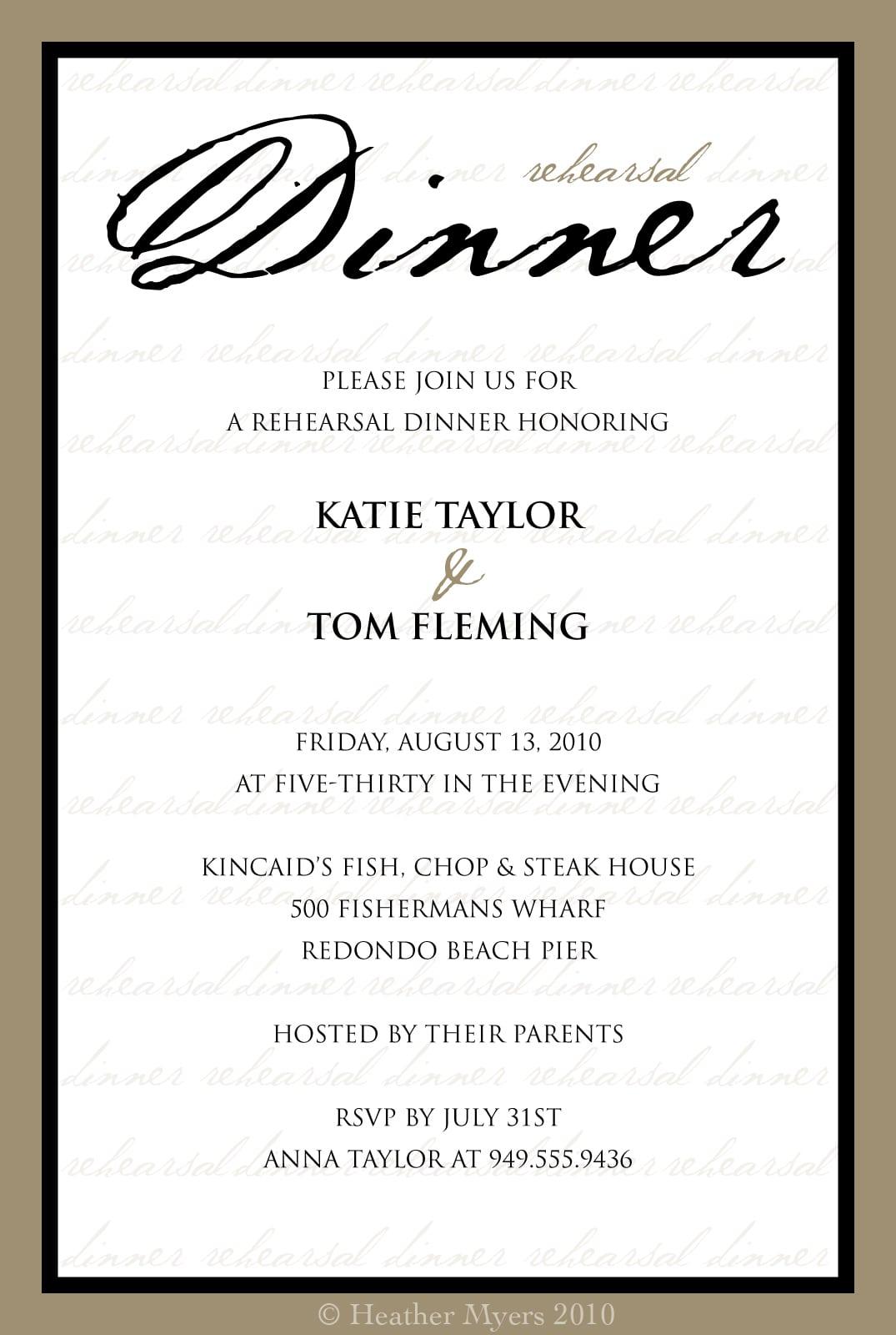 Free Printable Rehearsal Dinner Invitations