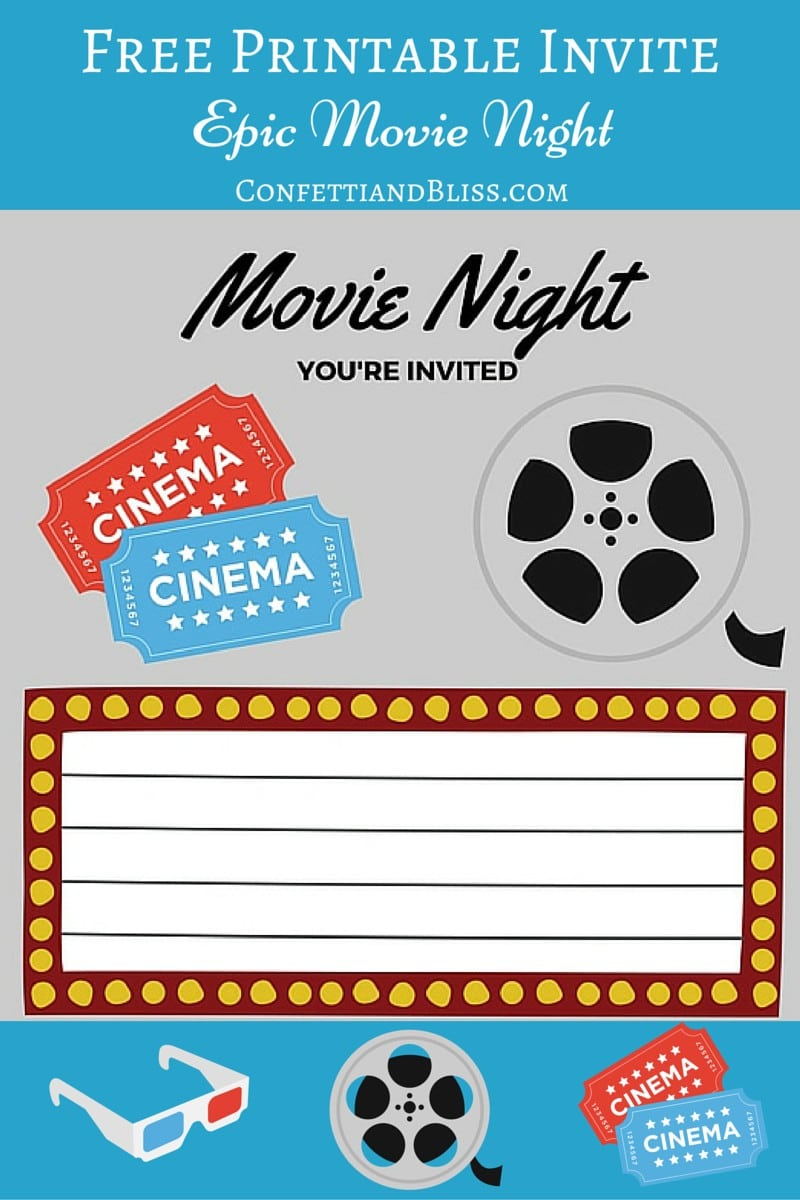 Movie party invitations printable topsimages movie birthday party invitations printable free jpg 800x1200 movie party invitations printable filmwisefo