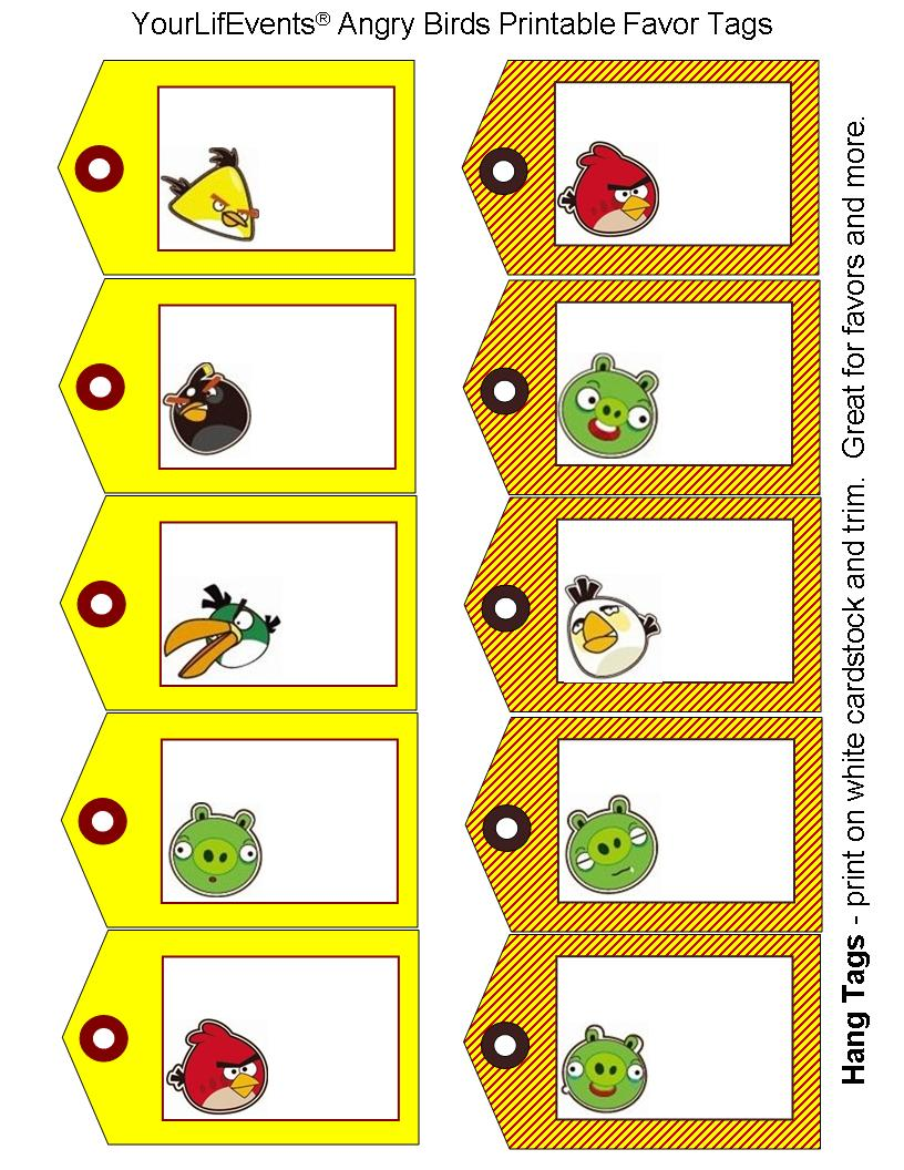 Free Printables} Angry Birds Party Printables
