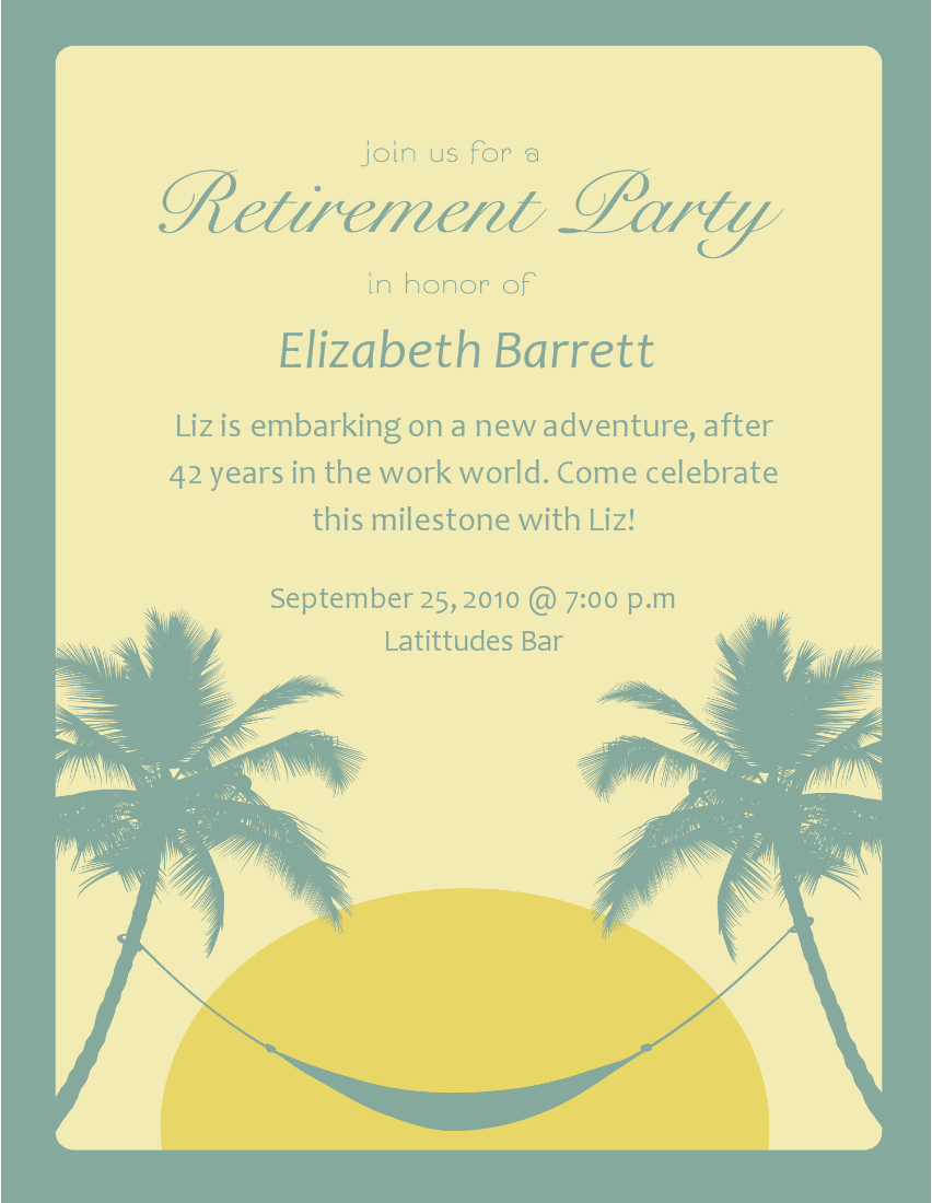 Free Printable Retirement Party Invitation Templates ...