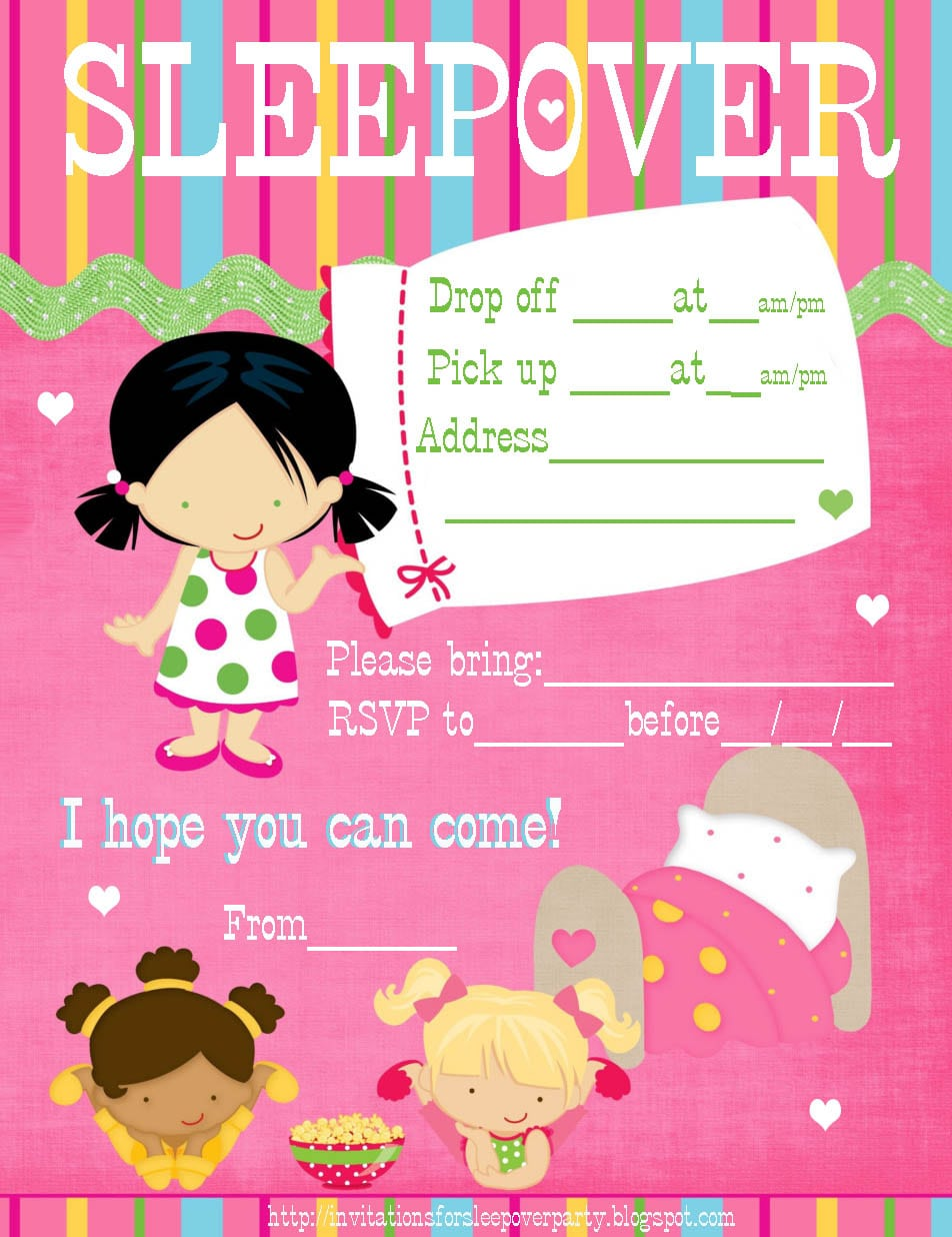 Slumber Party Invitation Template - Mickey Mouse Invitations Templates