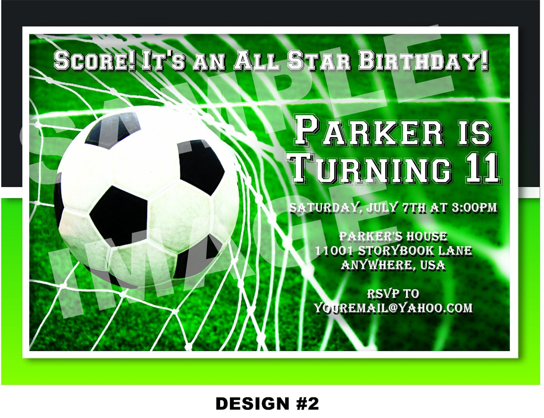 Free Soccer Party Invitation