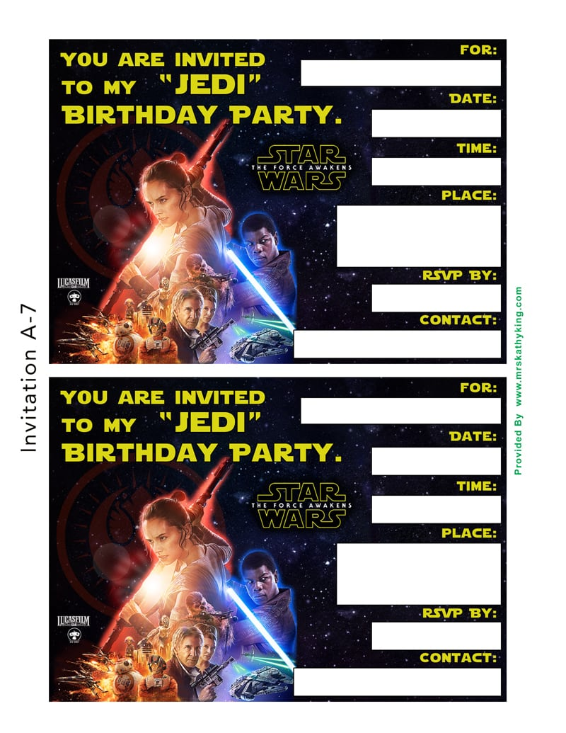Free Star Wars  The Force Awakens Printable Party Decoration Pack