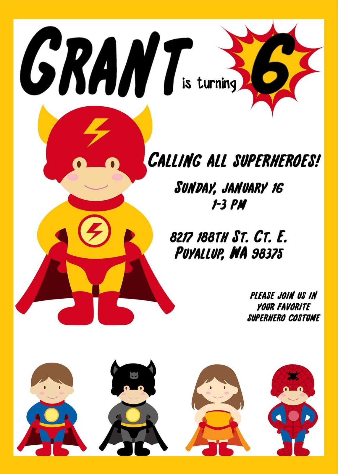 Free Superhero Party Invitations Ideas About Free Superhero Party