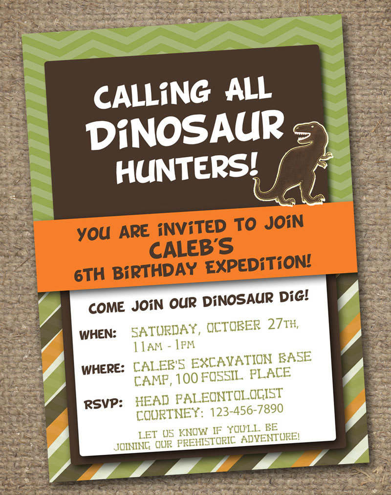 Dinosaur Party Invitations Free Printable - Mickey Mouse ...