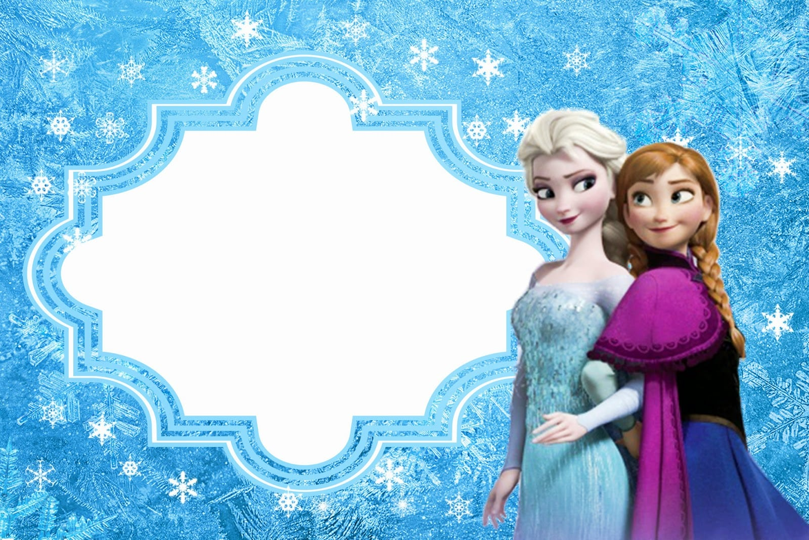 Frozen  Free Printable Cards Or Party Invitations