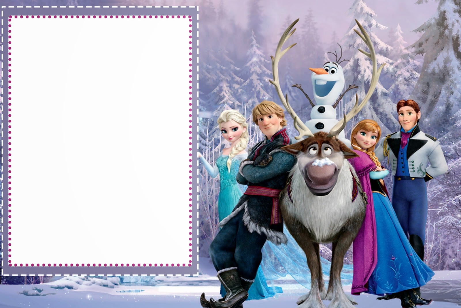This is a photo of Gratifying Frozen Invites Printable