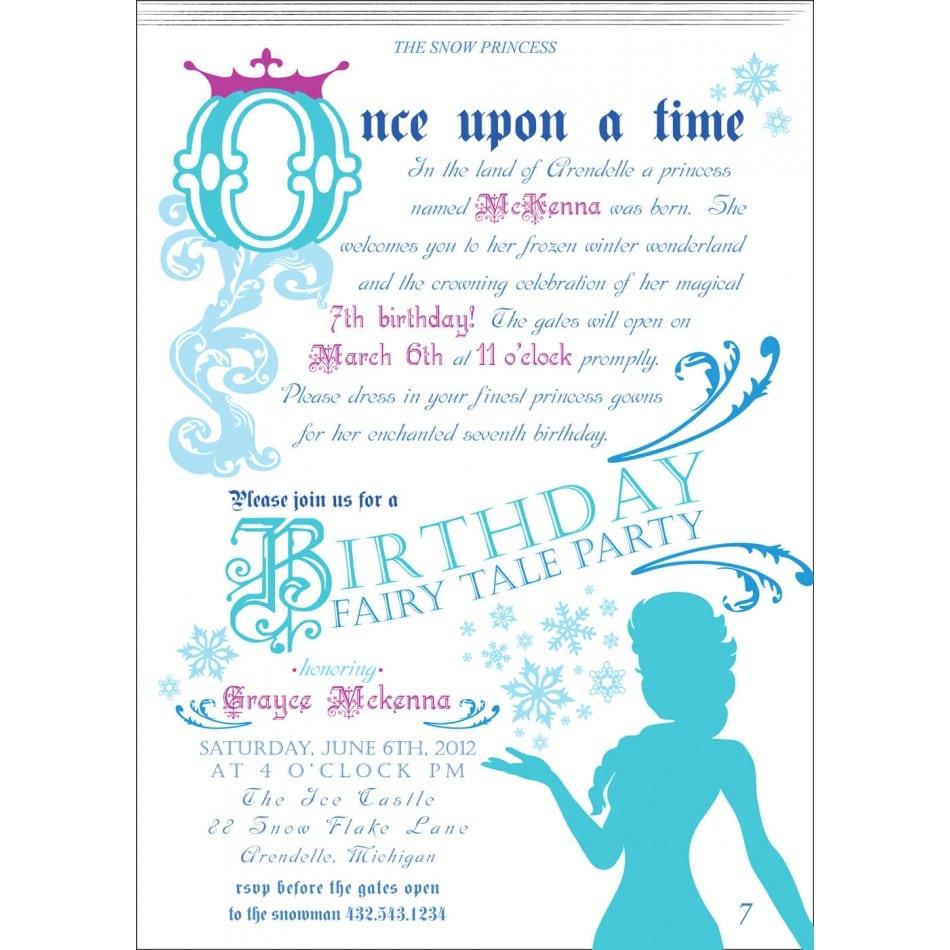Frozen Invitation Frozen Birthday Party By Hottomatoink2 On Etsy