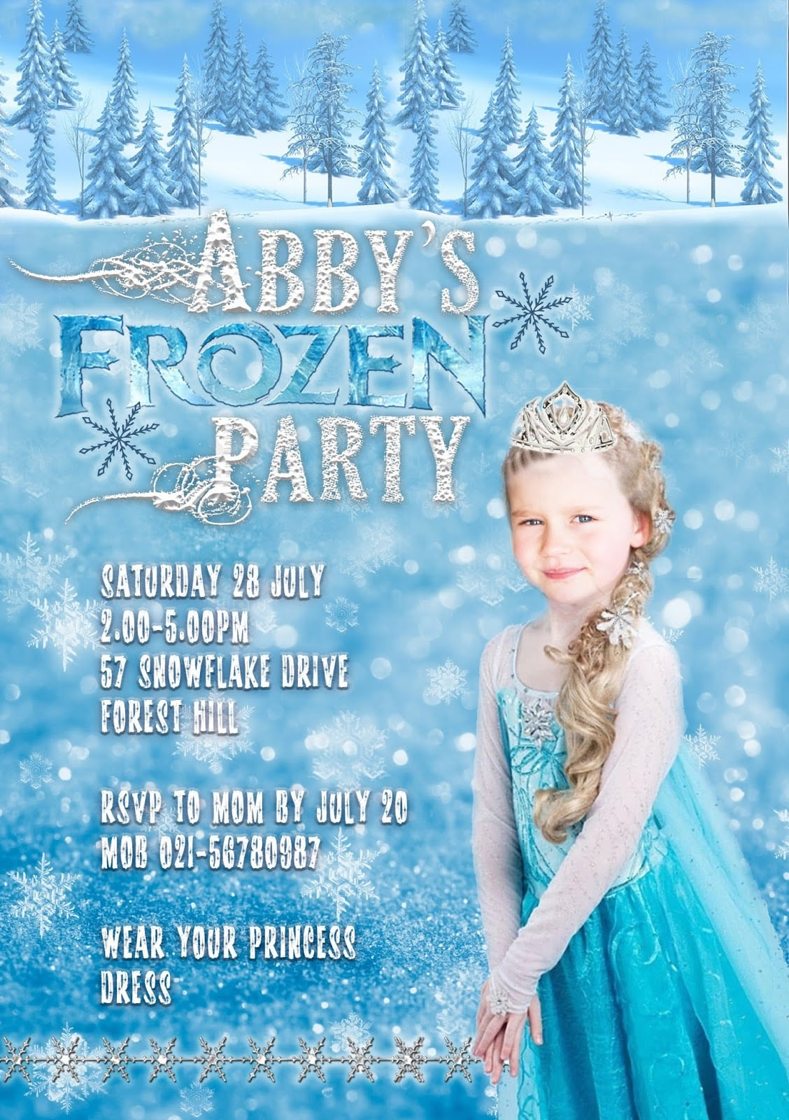 Frozen Party Invites – Gangcraft Net