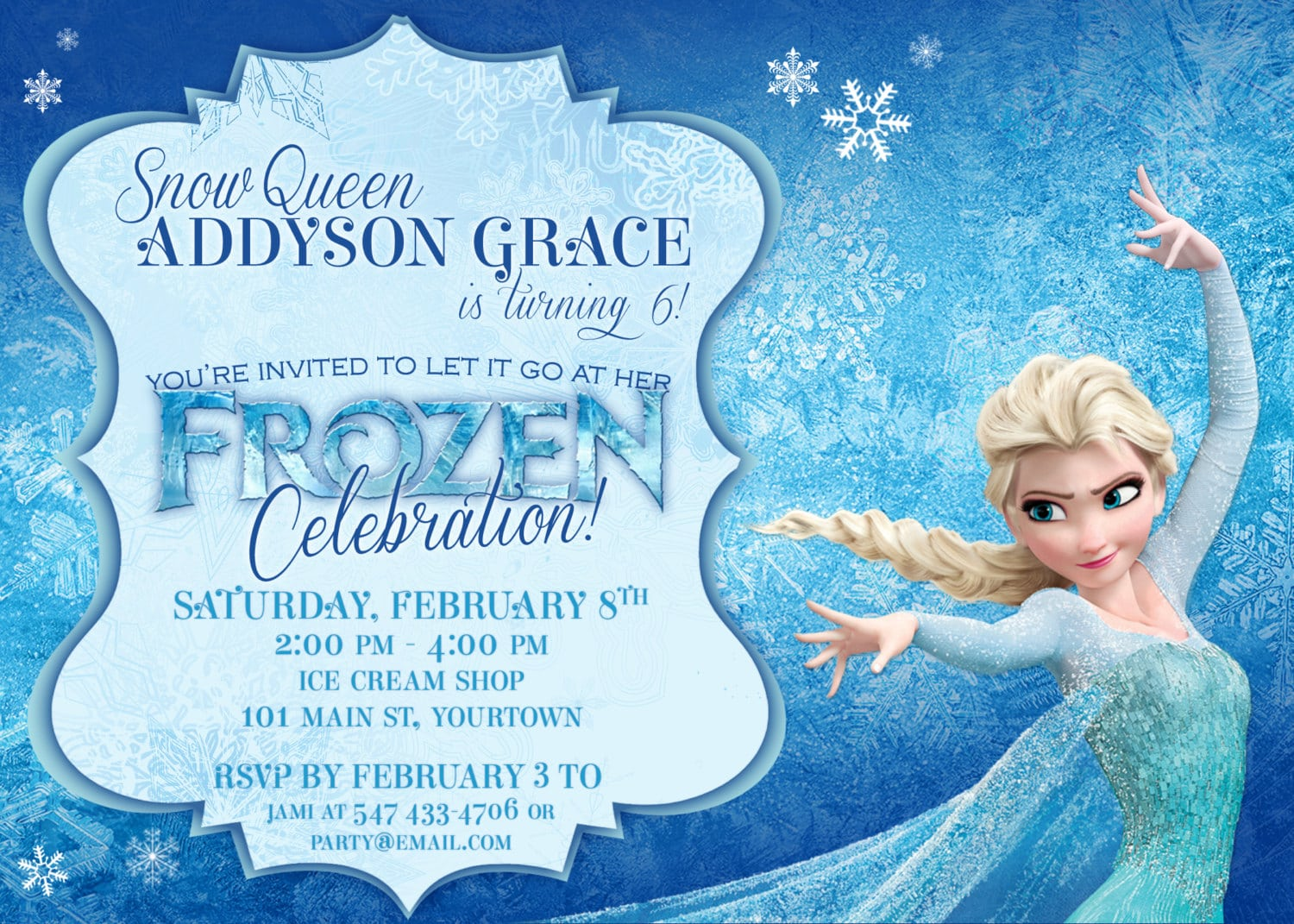 Frozen Themed Party Invitations Printable Pdfs Elsa And Anna