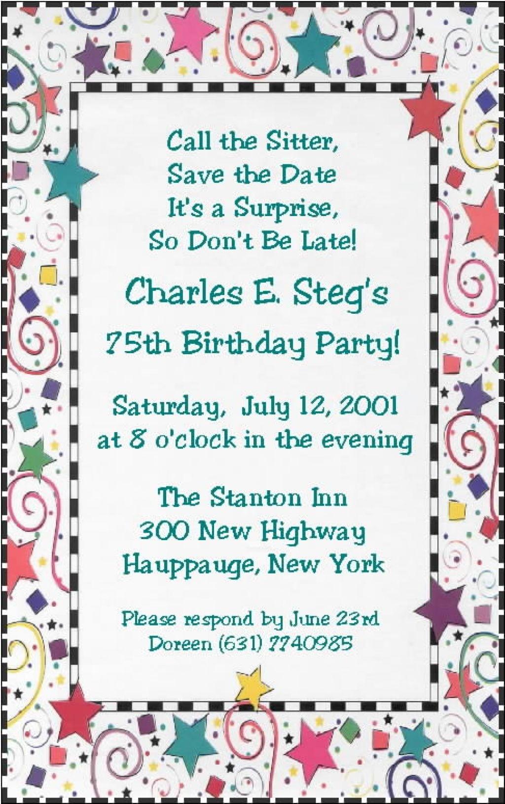 Funny 30th Birthday Party Invitation Wording