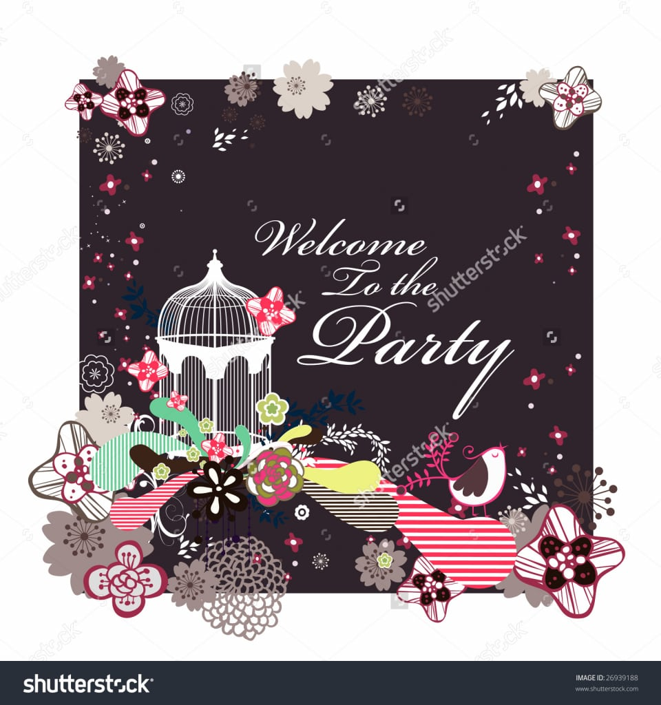 Welcome Party Invitation Cards - Mickey Mouse Invitations Templates