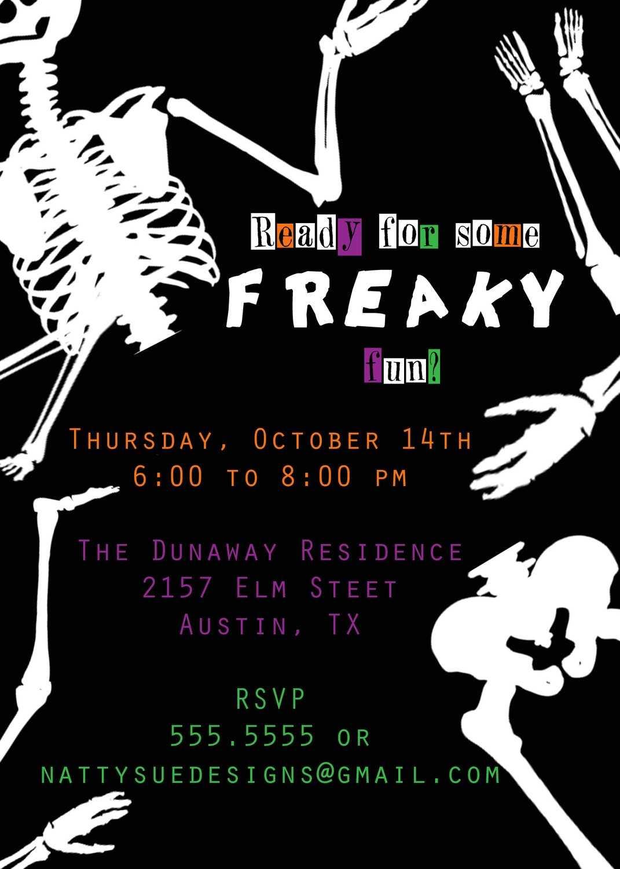 Funny Halloween Party Invites Wording