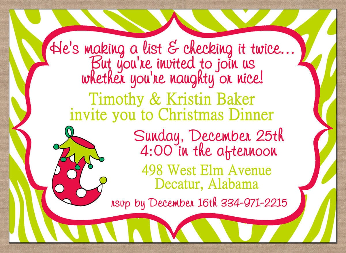 Funny Wording For Christmas Party Invitations
