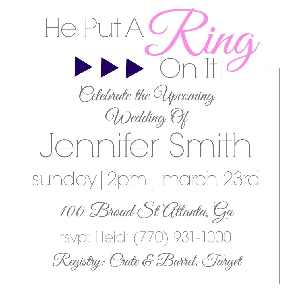 Geometric Diamond Bridal Shower Invitations {video Tutorial