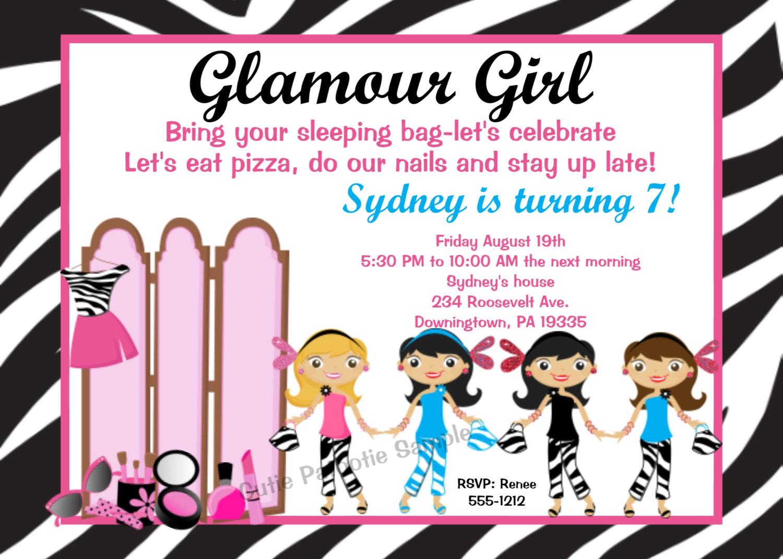 Girl Birthday Party Invitations Amazing Girl Birthday Party