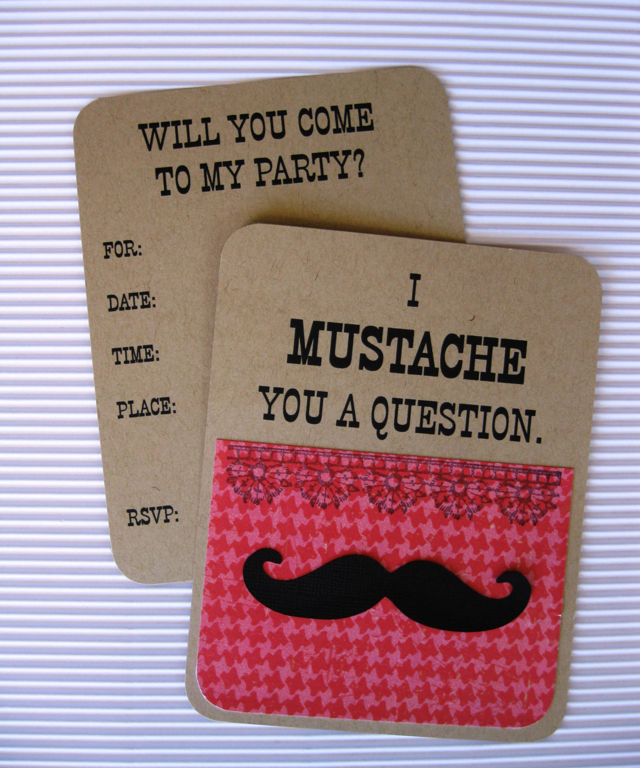 girls mustache party invitation - Mustache Party Invitations