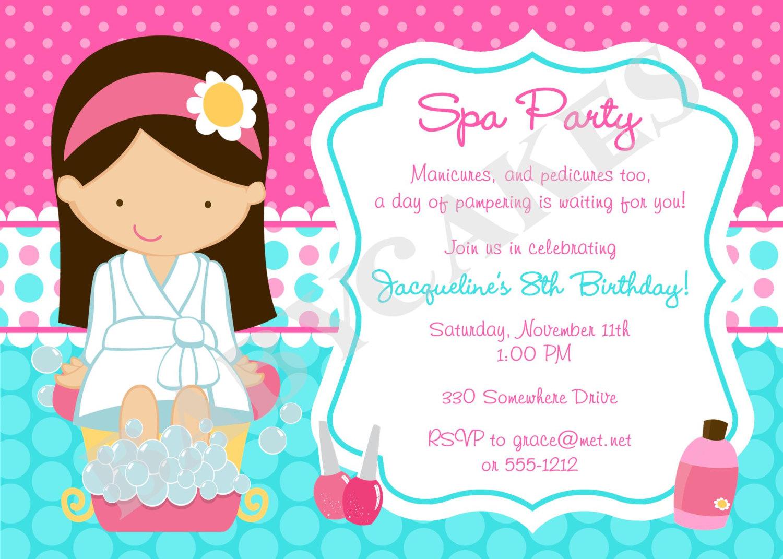 Girl's Sleep Over   Slumber Party Birthday Invitation