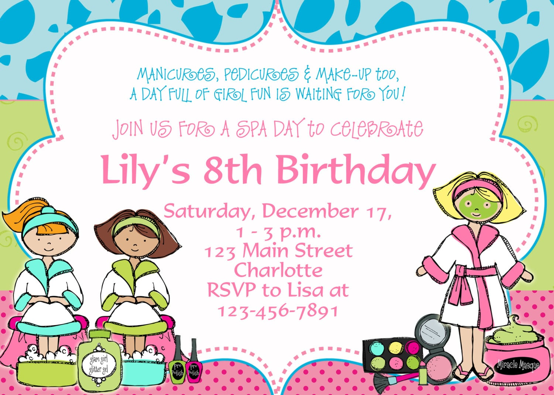 Good Free Printable Spa Birthday Party Invitations Amid Luxurious