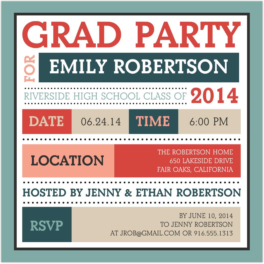Grad Party Invitations