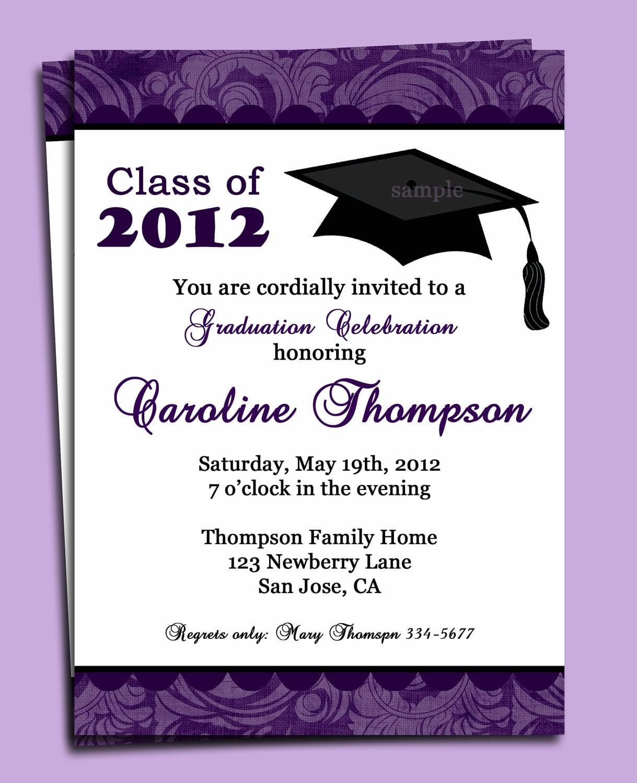Graduation Party Announcements Wording Cards Ideas With Graduation