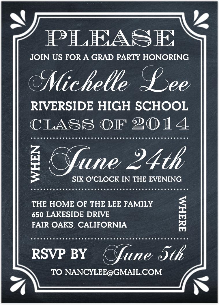 Graduation Party Invites