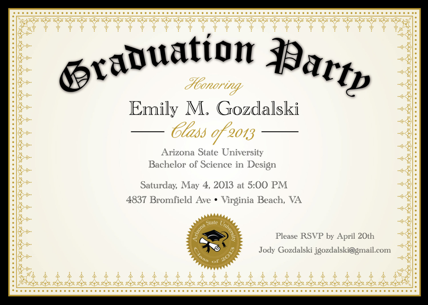 Graduation Party Template Invitation Card Cards Ideas With
