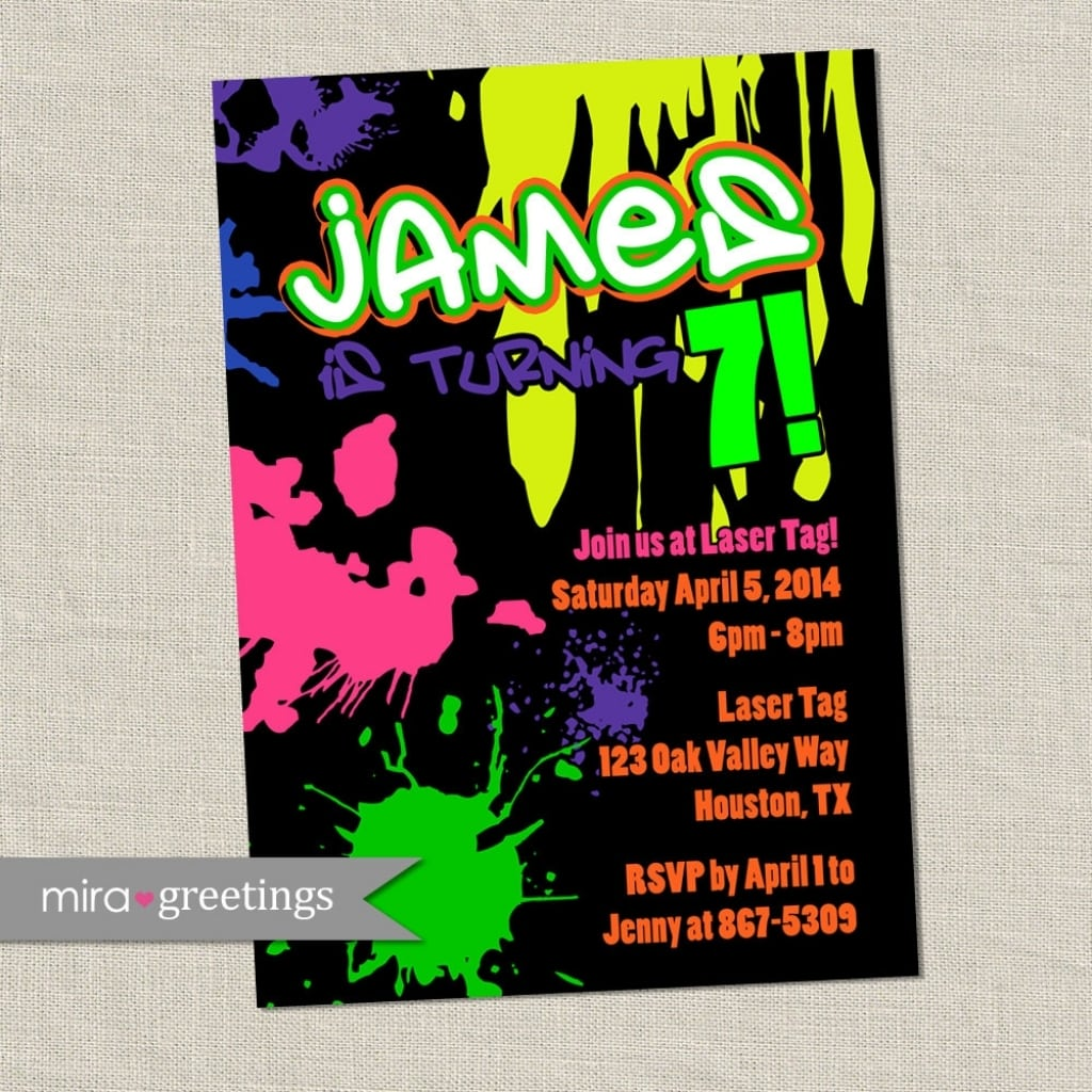 Graffiti Party Invitations