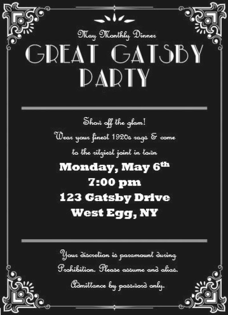 free gatsby invitation template - Gidiye.redformapolitica.co